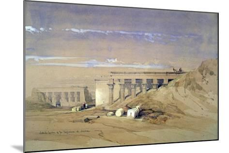 Lateral View of the Temple Called Typhonaeum at Dendera, Egypt, 19th Century-David Roberts-Mounted Giclee Print