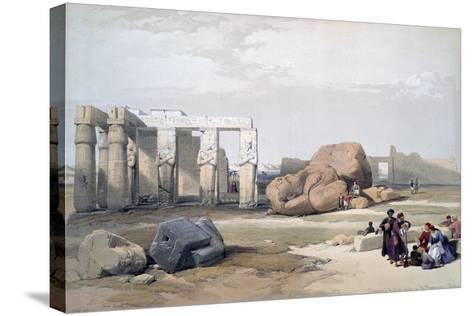 Fragments of the Great Colossi, at the Memnonium, 19th Century-David Roberts-Stretched Canvas Print