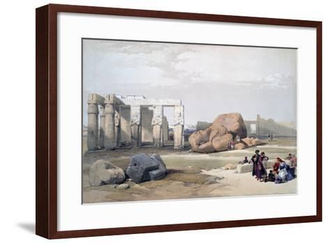Fragments of the Great Colossi, at the Memnonium, 19th Century-David Roberts-Framed Art Print