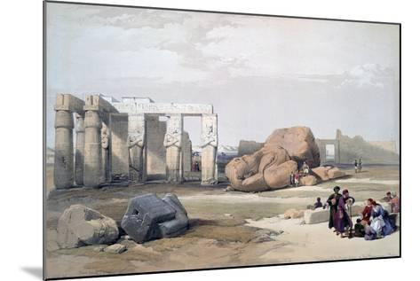 Fragments of the Great Colossi, at the Memnonium, 19th Century-David Roberts-Mounted Giclee Print