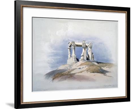 Temple of Wady Kardassy, Nubia, 19th Century-David Roberts-Framed Art Print