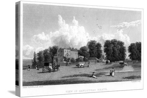 View on Hampstead Heath, London, 19th Century-E Finden-Stretched Canvas Print