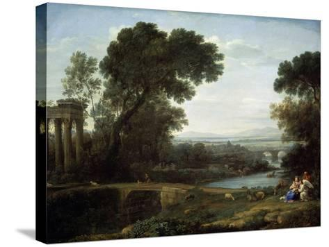 Landscape with the Rest on the Flight into Egypt (Midda), 1661-Claude Lorraine-Stretched Canvas Print