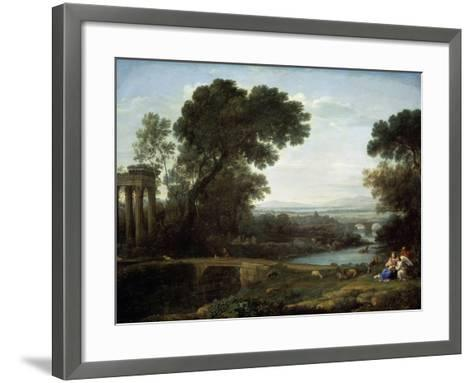 Landscape with the Rest on the Flight into Egypt (Midda), 1661-Claude Lorraine-Framed Art Print