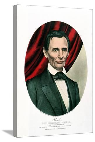 Abraham Lincoln (1809-6), C1865-Currier & Ives-Stretched Canvas Print