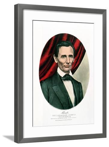 Abraham Lincoln (1809-6), C1865-Currier & Ives-Framed Art Print