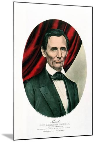 Abraham Lincoln (1809-6), C1865-Currier & Ives-Mounted Giclee Print