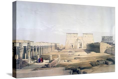 Grand Approach to the Temple of Philae, Nubia, 19th Century-David Roberts-Stretched Canvas Print
