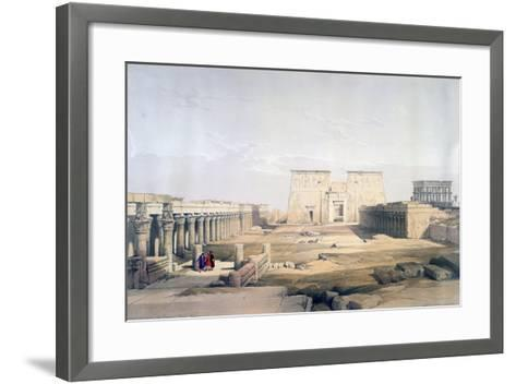 Grand Approach to the Temple of Philae, Nubia, 19th Century-David Roberts-Framed Art Print