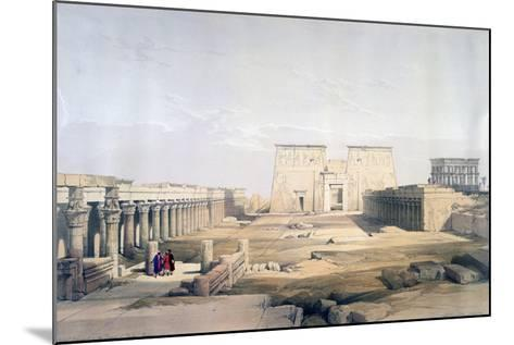 Grand Approach to the Temple of Philae, Nubia, 19th Century-David Roberts-Mounted Giclee Print