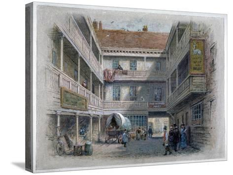 Courtyard of the White Hart Inn, Borough High Street, Southwark, London, C1860-Charles Wilkinson-Stretched Canvas Print