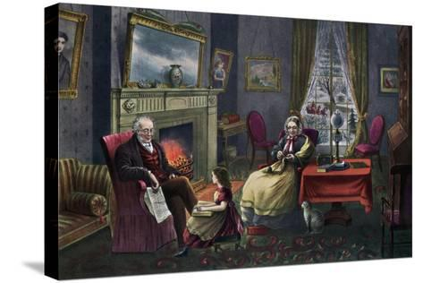 The Season of Rest, Old Age, 1868-Currier & Ives-Stretched Canvas Print