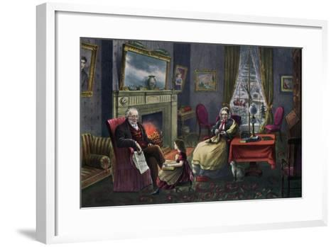 The Season of Rest, Old Age, 1868-Currier & Ives-Framed Art Print