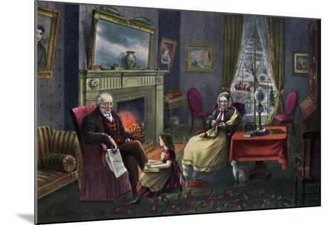 The Season of Rest, Old Age, 1868-Currier & Ives-Mounted Giclee Print