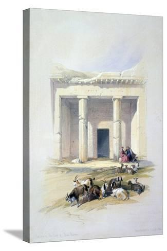 Entrance to the Cave of Beni Hassan, 19th Century-David Roberts-Stretched Canvas Print