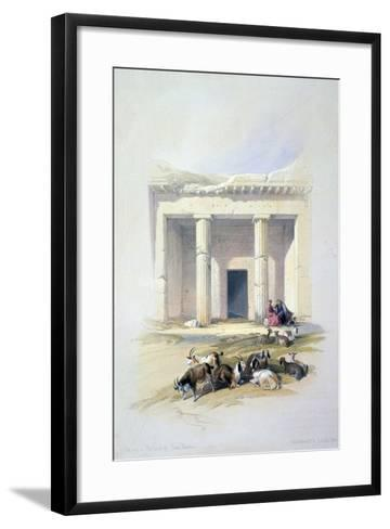 Entrance to the Cave of Beni Hassan, 19th Century-David Roberts-Framed Art Print