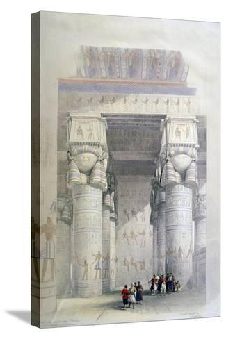 Portico of the Temple of Dendera, 19th Century-David Roberts-Stretched Canvas Print