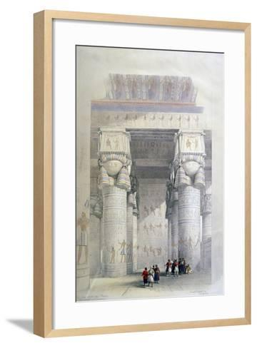 Portico of the Temple of Dendera, 19th Century-David Roberts-Framed Art Print