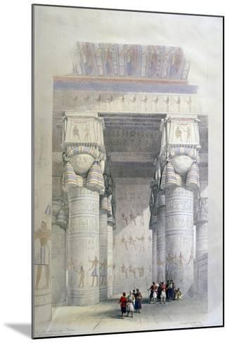 Portico of the Temple of Dendera, 19th Century-David Roberts-Mounted Giclee Print