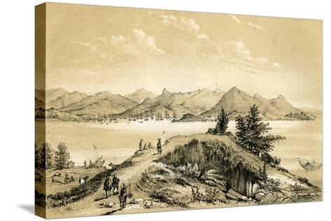 The Bay and Island of Hong Kong, 1847-E Gilks-Stretched Canvas Print