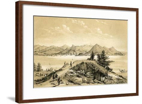The Bay and Island of Hong Kong, 1847-E Gilks-Framed Art Print