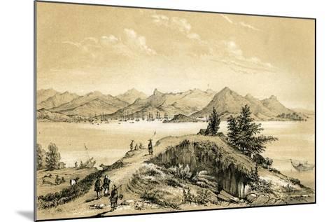 The Bay and Island of Hong Kong, 1847-E Gilks-Mounted Giclee Print