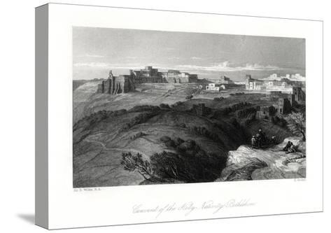 Convent of the Holy Nativity, Bethlehem, Palestine, 19th Century-E Goodall-Stretched Canvas Print
