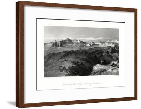Convent of the Holy Nativity, Bethlehem, Palestine, 19th Century-E Goodall-Framed Art Print