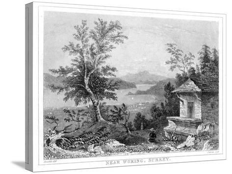 Near Woking, Surrey, 19th Century- Chavan-Stretched Canvas Print