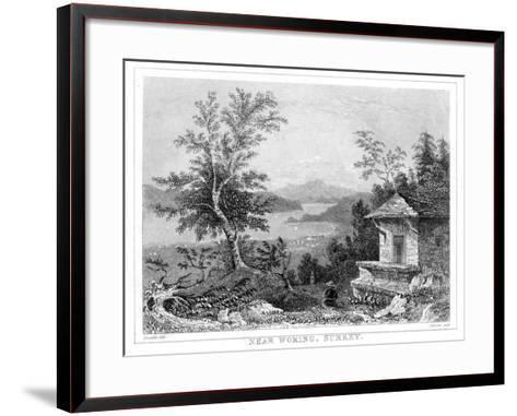 Near Woking, Surrey, 19th Century- Chavan-Framed Art Print