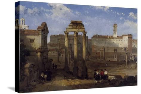 The Forum, Rome-David Roberts-Stretched Canvas Print