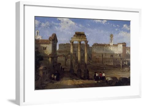 The Forum, Rome-David Roberts-Framed Art Print