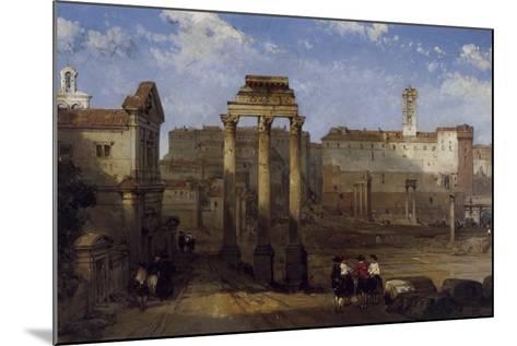 The Forum, Rome-David Roberts-Mounted Giclee Print