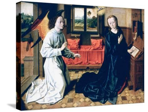 The Annunciation, 1465-1470-Dieric Bouts-Stretched Canvas Print