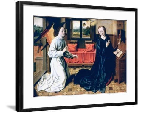 The Annunciation, 1465-1470-Dieric Bouts-Framed Art Print