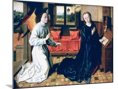 The Annunciation, 1465-1470-Dieric Bouts-Mounted Giclee Print
