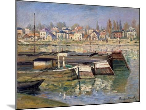 Seine at Asnieres, 1873-Claude Monet-Mounted Giclee Print