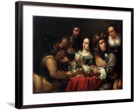 Card Game, 17th Century-Dingeman Van Der Hagen-Framed Art Print
