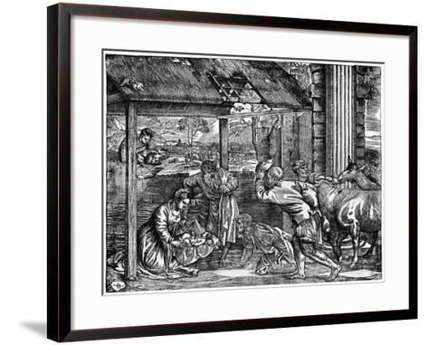 Adoration of the Shepherds, 1937-Domenico dalle Greche-Framed Art Print