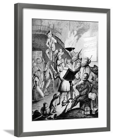 If Musick's Charms Can Hearts Enthral, 1730-E Heemskirck-Framed Art Print