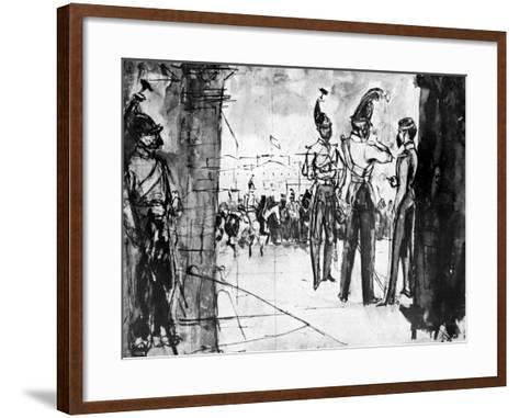 Group of Soldiers-Constantin Guys-Framed Art Print