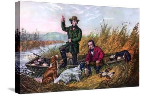 Wild Duck Shooting, 1854-Currier & Ives-Stretched Canvas Print