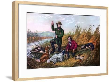 Wild Duck Shooting, 1854-Currier & Ives-Framed Art Print