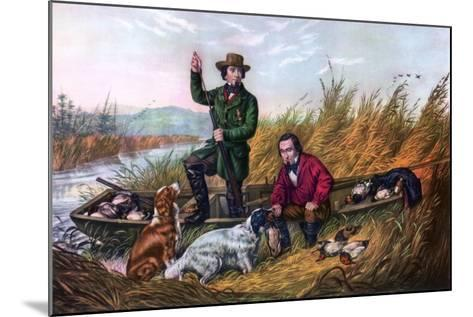 Wild Duck Shooting, 1854-Currier & Ives-Mounted Giclee Print