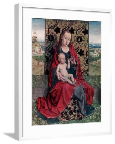 The Madonna and Child-Dirck Bouts-Framed Art Print
