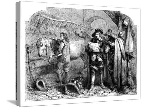Oliver Cromwell Discovering the Letter of King Charles I at the Blue Boar, Holborn, London, C1902-E Kretzschniar-Stretched Canvas Print