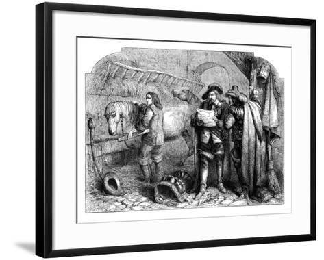 Oliver Cromwell Discovering the Letter of King Charles I at the Blue Boar, Holborn, London, C1902-E Kretzschniar-Framed Art Print