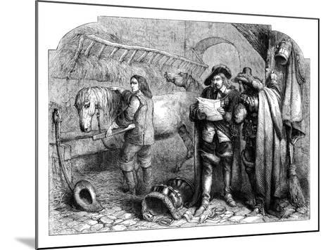 Oliver Cromwell Discovering the Letter of King Charles I at the Blue Boar, Holborn, London, C1902-E Kretzschniar-Mounted Giclee Print