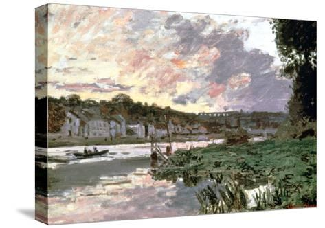 River Seine at Bougival, C1870-Claude Monet-Stretched Canvas Print