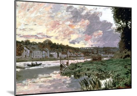 River Seine at Bougival, C1870-Claude Monet-Mounted Giclee Print